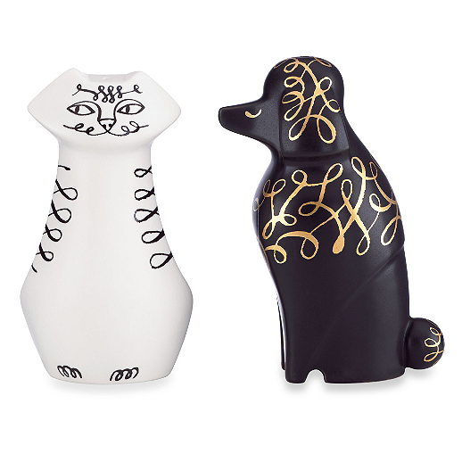 Kate Spade - Woodland Park - Cat / Dog Salt & Pepper Set