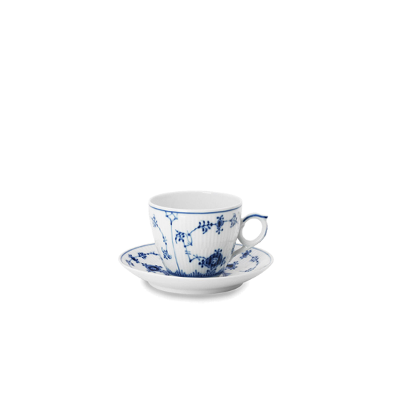 Royal Copenhagen - Blue Fluted Plain - Cup & Saucer
