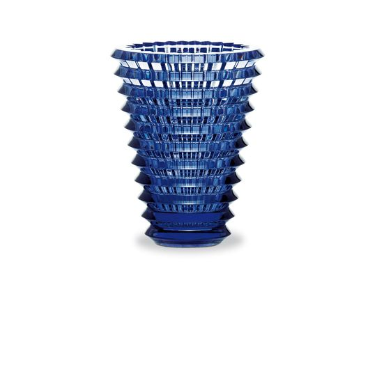 Baccarat - Large Eye Vase - Midnight Blue