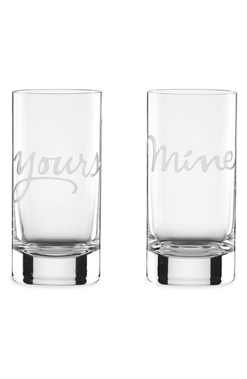 Kate Spade - Mine and Yours - Highball Glasses - Set of 2