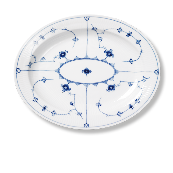 Royal Copenhagen - Blue Fluted Plain - Oval Serving Platter