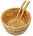 Berard - Olive Wood - Salad Bowl and Servers