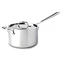 All-Clad - Stainless Steel - 4Qt Sauce Pan