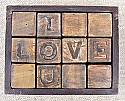 Sugarboo Designs - Art Print - I love You - blocks