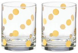 Kate Spade - Pearl Place - Old Fashioned Glasses - Set of 2