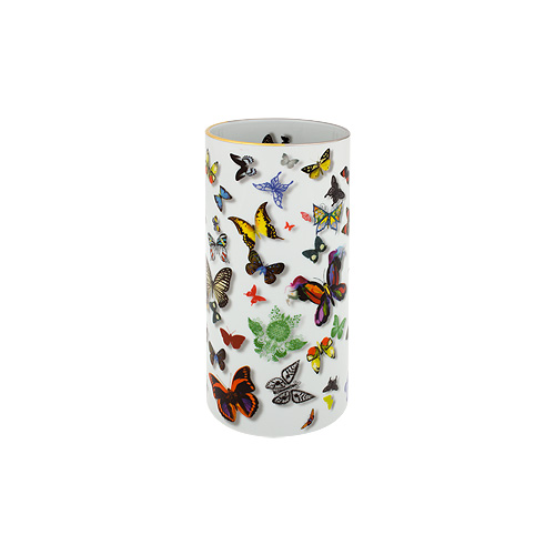 """Christian Lacroix - Tales of Porcelain - Butterfly Parade - 11"""" Vase"""