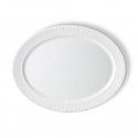 Royal Copenhagen - White Fluted - Oval Platter
